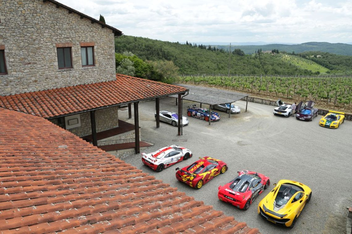 McLaren F1s at rest in the Tuscany region of Italy