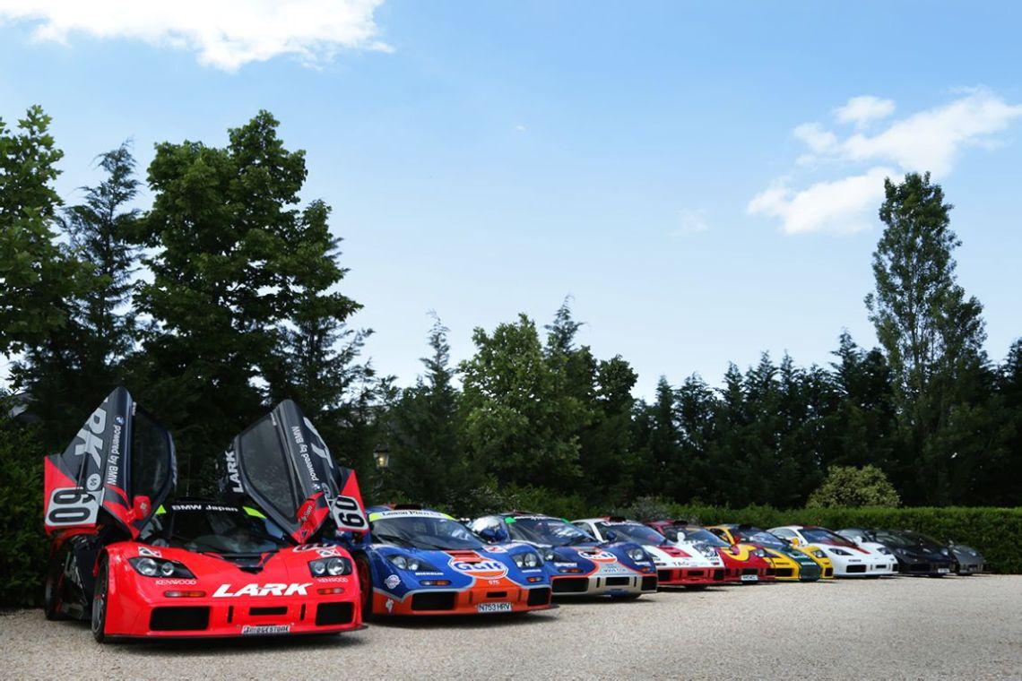 Team Lark 1996 McLaren F1 GTR chassis 13R and breathtaking gathering of F1 GTR models