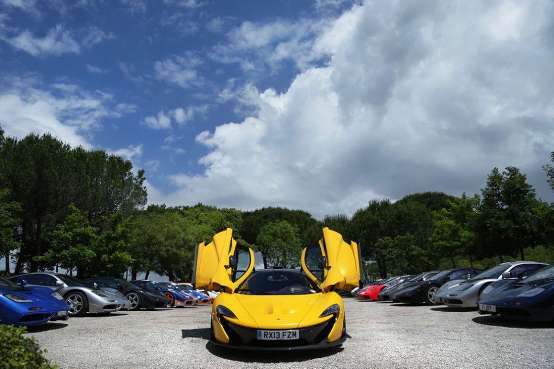 McLaren P1 between selection of F1 models