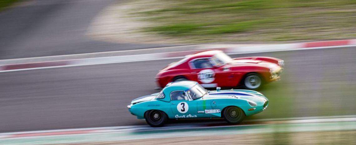 Jaguar E-Type and Ferrari 250 GT SWB Berlinetta Competition