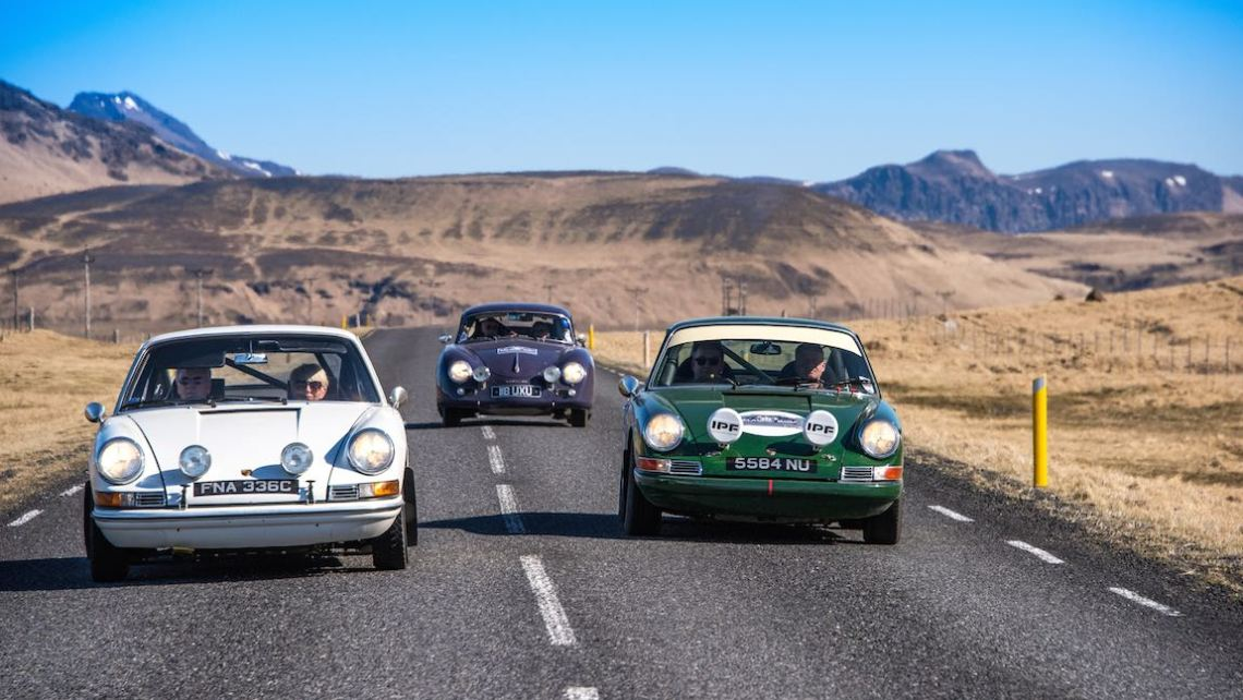 Porsche brothers on the Icelandic Saga Rally 2015 (photo: Francesco Rastrelli and Roberta Roccati)