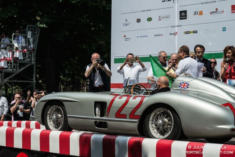 Sir Stirling Moss reunited in Italy with the race-winning 1955 Mercedes-Benz 300 SLR #722