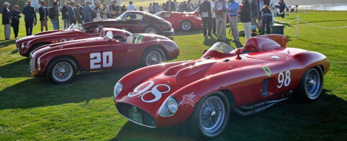 Ferraris in the Pebble Beach Road Races Class