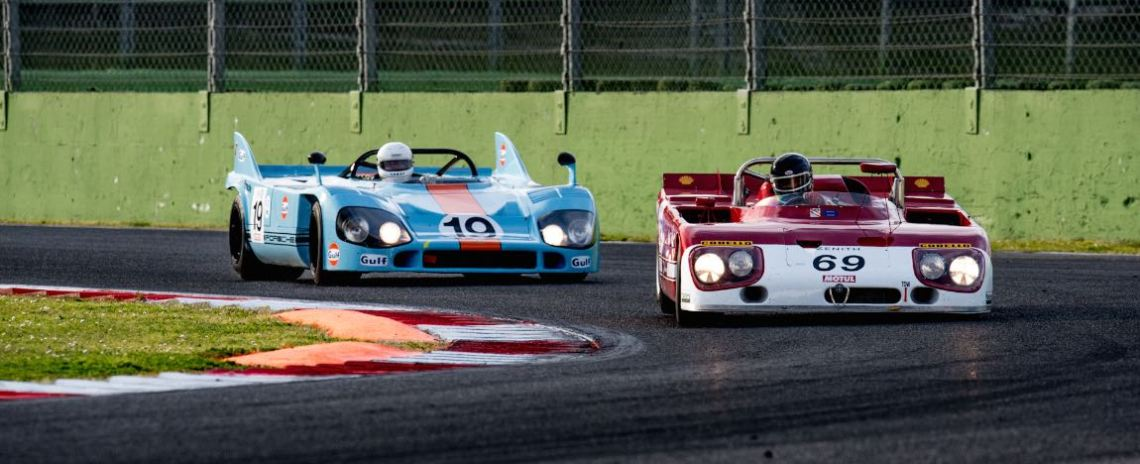 1971 Alfa Romeo T33 and 1970 Porsche 917 driven by Jurgen Barth