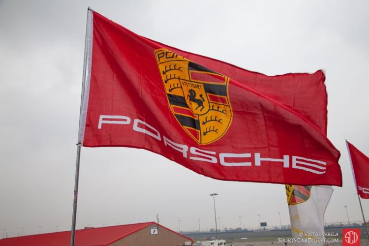 The Porsche banner flew high and proud this weekend