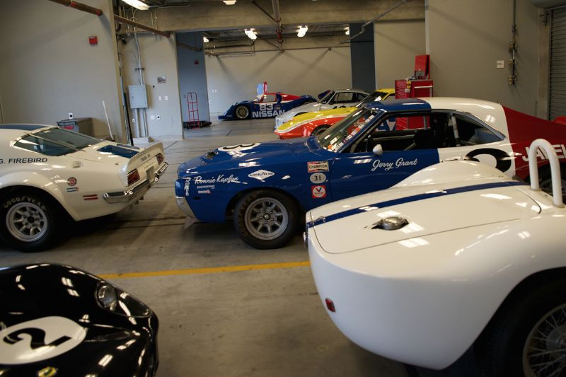 Inside the garage Saturday morning.
