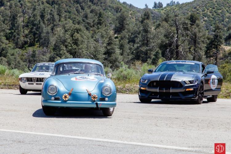 An Alfa, a Porsche and a Mustang