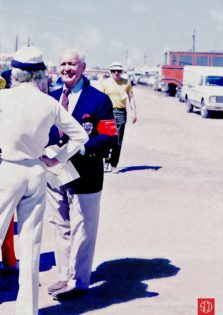Sebring founder and promoter Alec Ulmann in paddock (Photo: Gene Bussian)