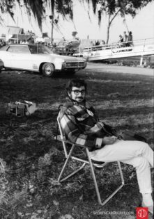 Author at the 1971 Sebring race (Photo: Louis Galanos)
