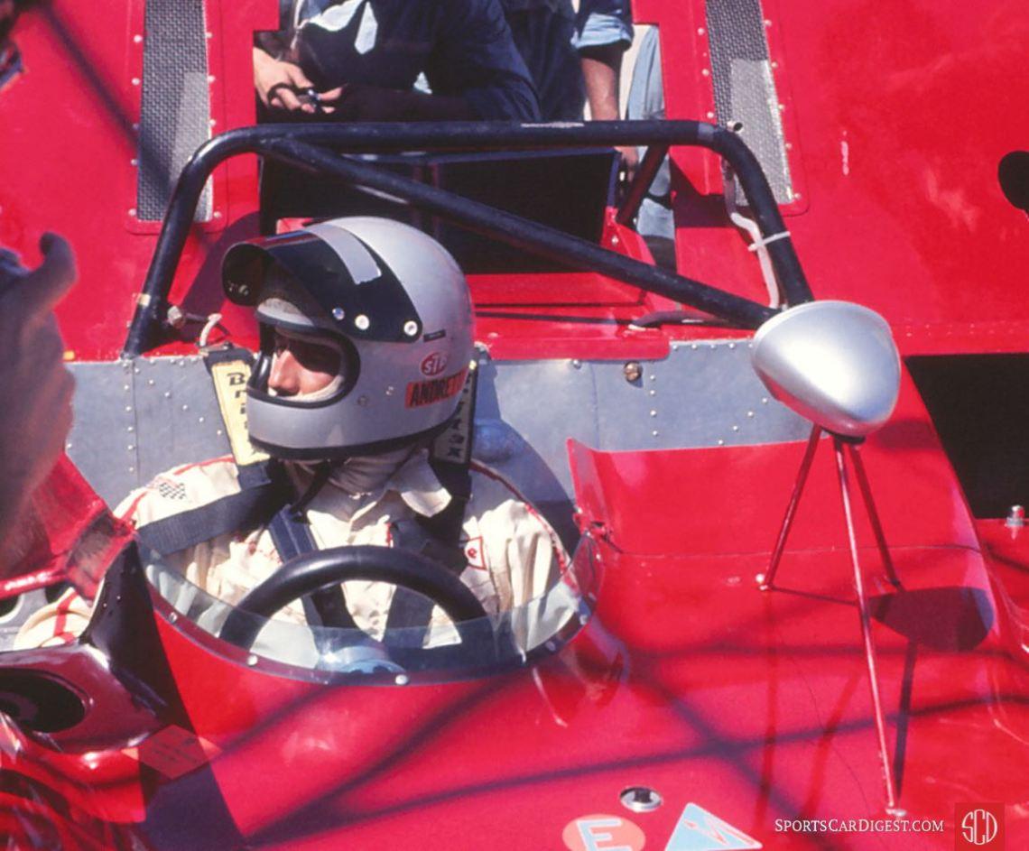 Mario Andretti in the Factory Ferrari 312PB at Sebring in 1971 (Photo: Gene Bussian)