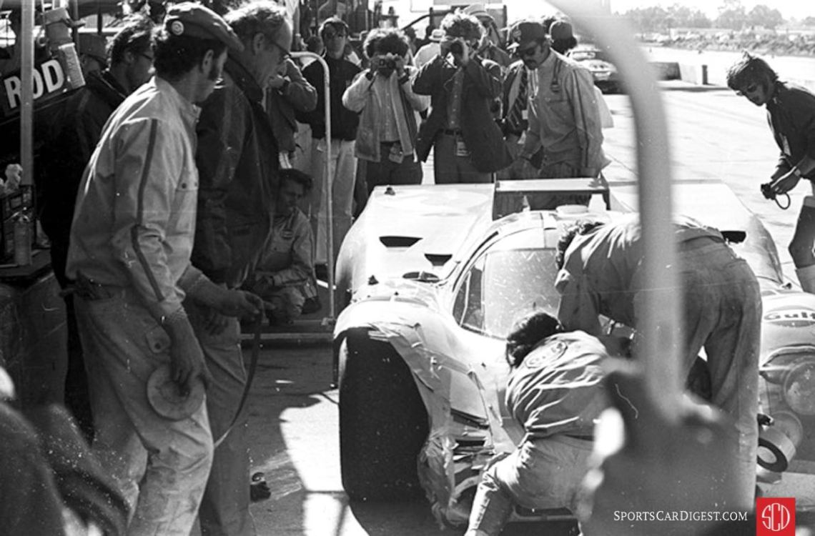 Rolls of duct tape were broken out to repair the Rodriguez/Oliver 917 (Photo: www.autosportsltd.com)