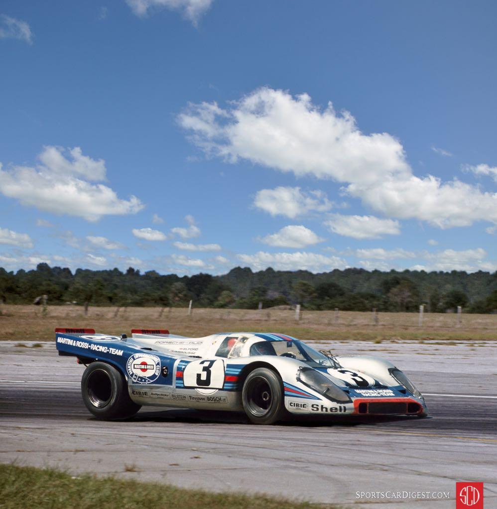 Vic Elford and Gerard Larousse's winning Martini 917K (Photo: Lou Galanos)