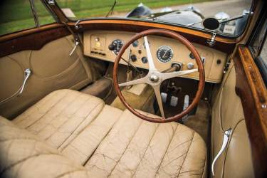 1937 Bugatti Type 57S Cabriolet Interior (photo: Darin Schnabel)
