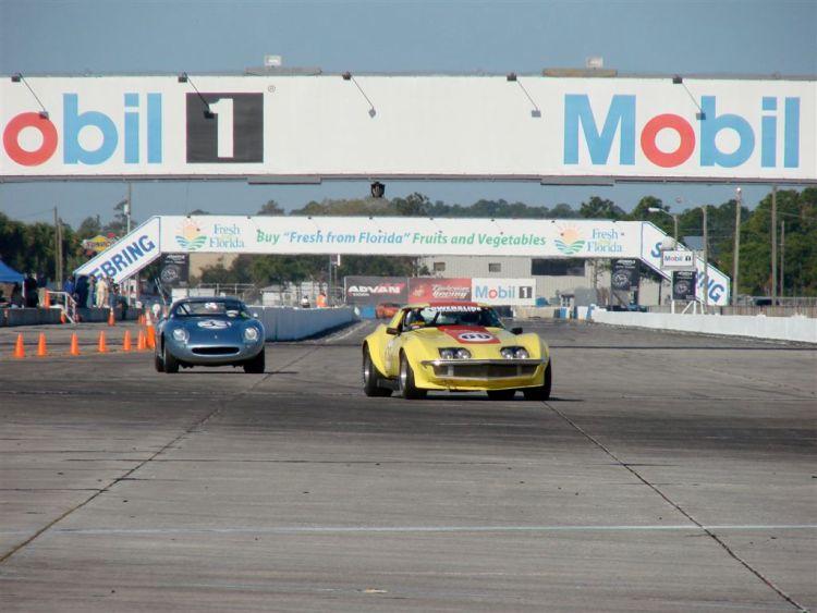 HSR Sebring Challenge Corvette L88 and Ferrari 275 GTB