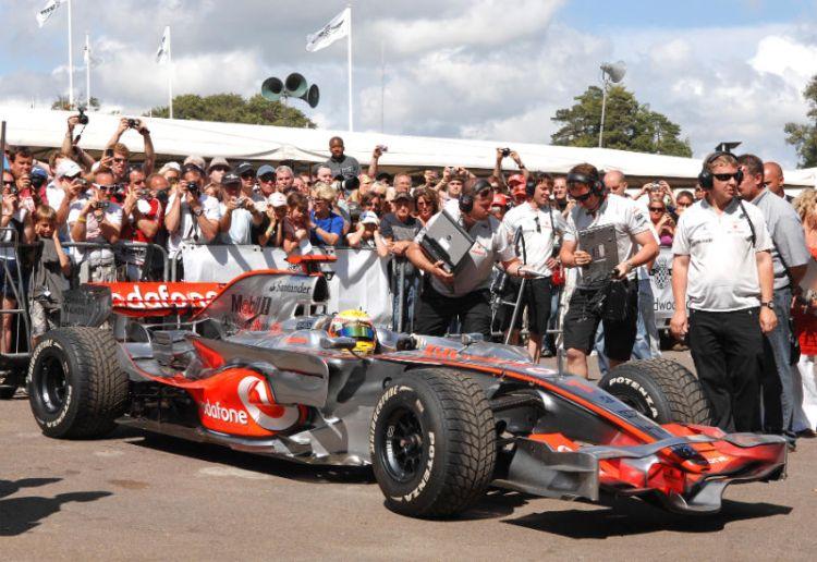 Lewis Hamilton in the McLaren F1