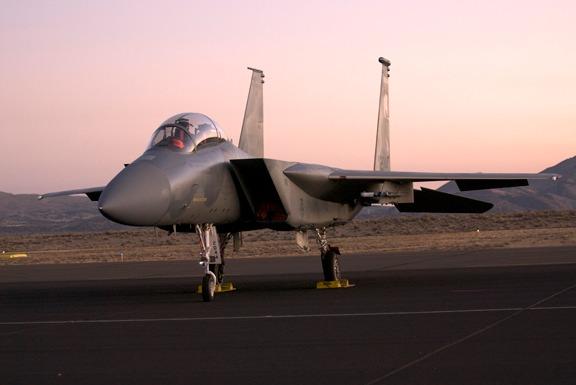 Pre-sunrise flight line walk finds USAF F-15