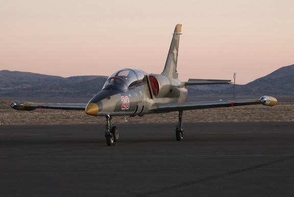 Pre-sunrise flight line walk finds Chec Albatros L-39