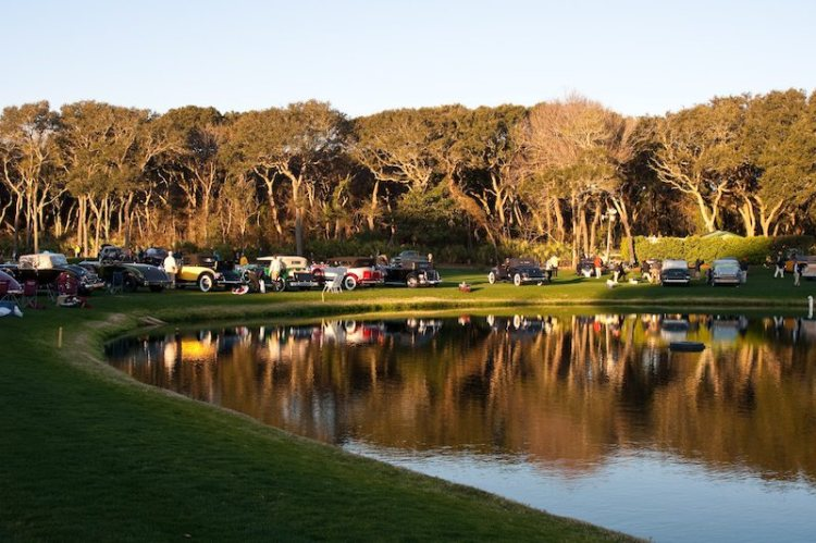 Lake view at Amelia Island Concours