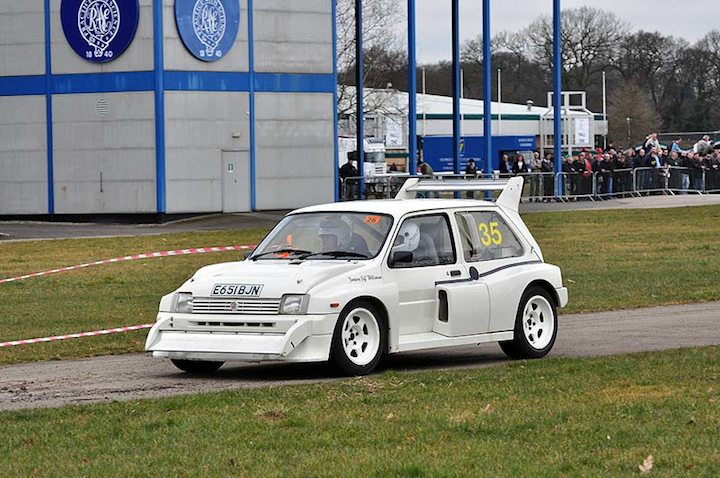 MG Metro in action at Stoneleigh