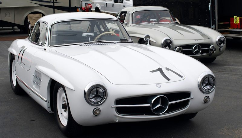 Two 300SL Gullwings. Steve Marx's 1955 #71 and Alex Curtis' 1955 #91.