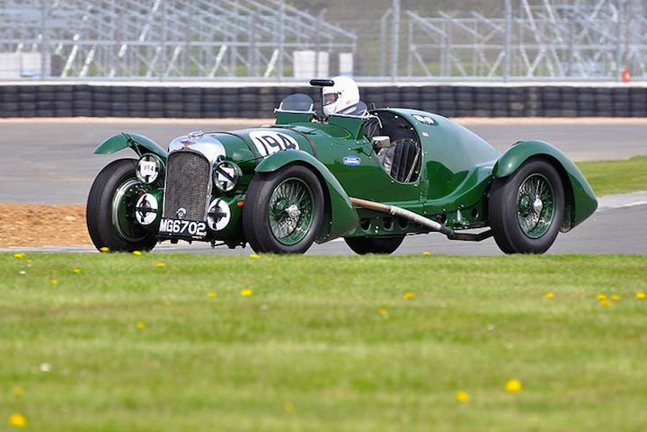 1st Scratch race winner - Alan Chandler driving the 1939 Lagonda V12 Le Mans Replica