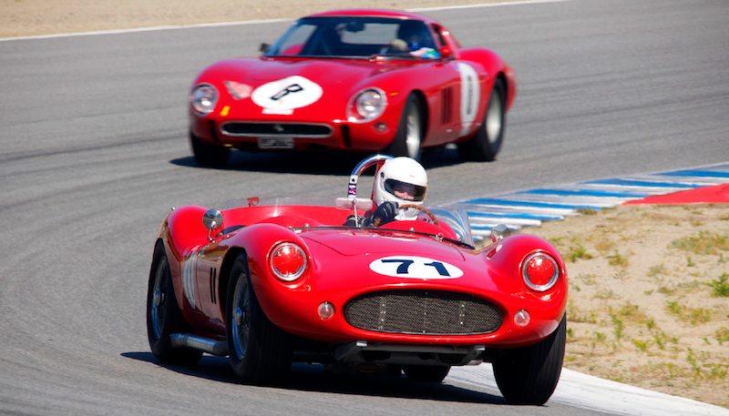 1958 Devin SS Chevrolet of Greg Myer leads the Ferrari 250 GTO of Greg Whitten.