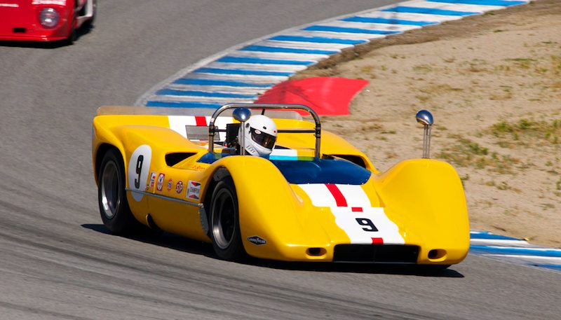 1968 McLaren M6B driven by both Ilja Burkoff and Bob Lee.