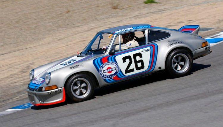 Down the Corkscrew 1973 Porsche RSR of Brad Hook.