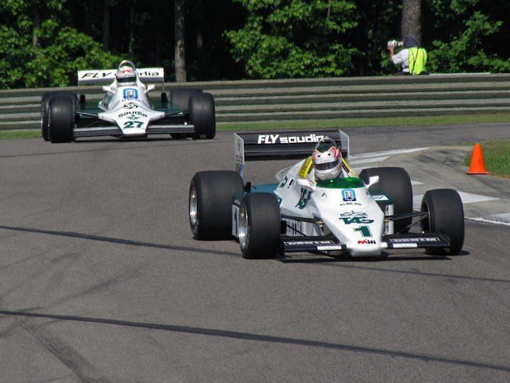 Williams FW08C - Michael Fitzgerald and Williams FW07B - Hamish Somerville