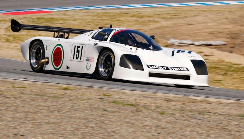 Turn five - Jeff Lewis in his 1989 Argo JM-19C.