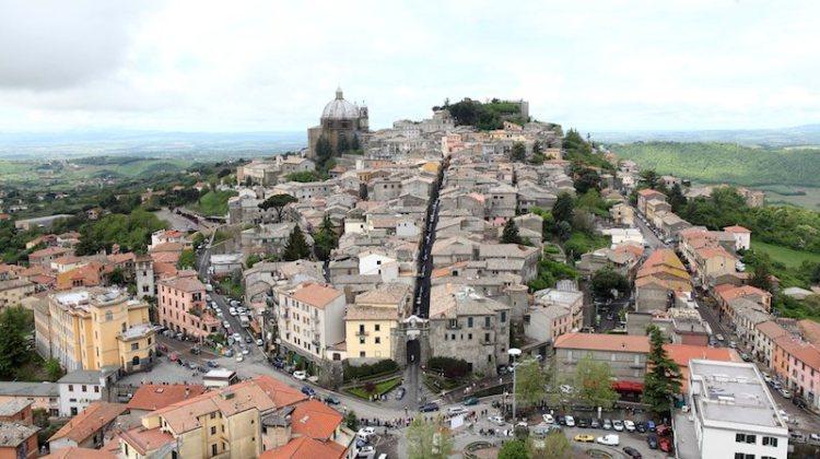 Italian village on Mille Miglia route