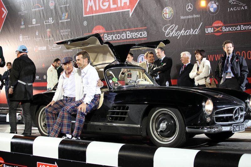 Jackie and Paul Evan Stewart - Mercedes-Benz 300SL Gullwing