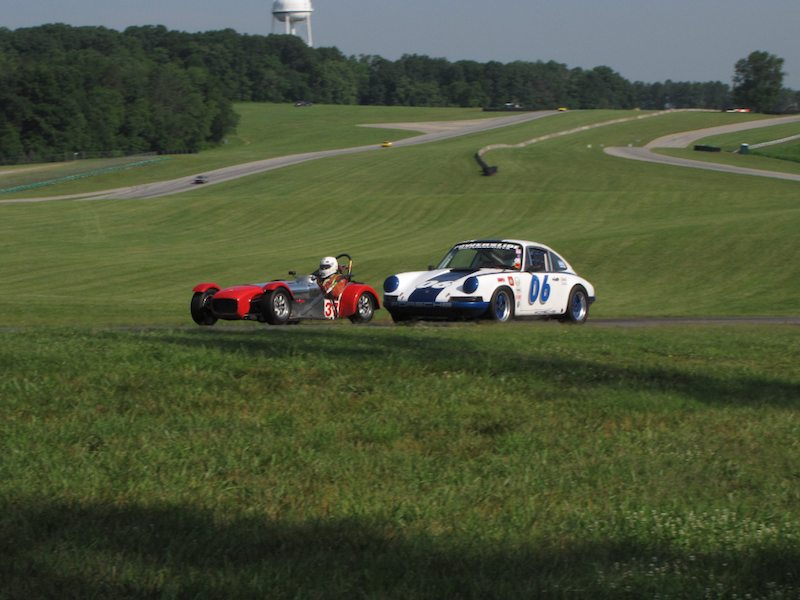 Porsche 911S - Skott Burkland and Lotus Super 7 - William Bartlett