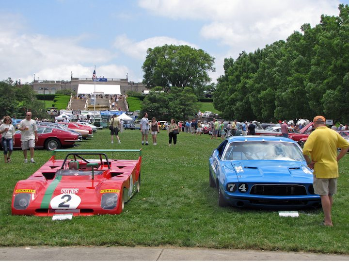 1971 Ferrari 312PB and 1972 Dodge Challenger