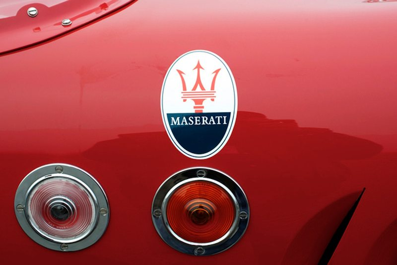 LeMans/Sebring running lights used to ID the driver/car during the night hours. Stephen Hill's 1956 Maserati 200SI.