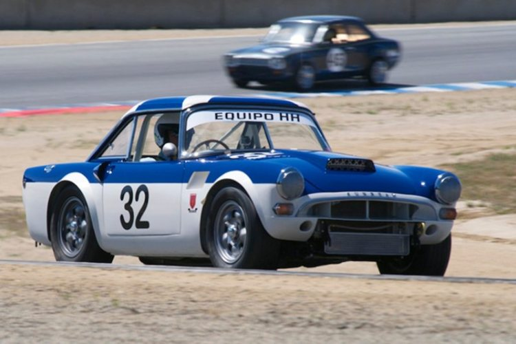 Christopher Gruys accelerates out of 5 in his 1966 Sunbeam Tiger Le Mans.