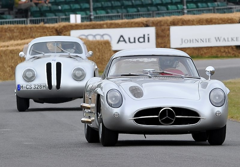 Mercedes-Benz 300SLR Uhlenhaut Coupe and BMW 328 Mille Miglia