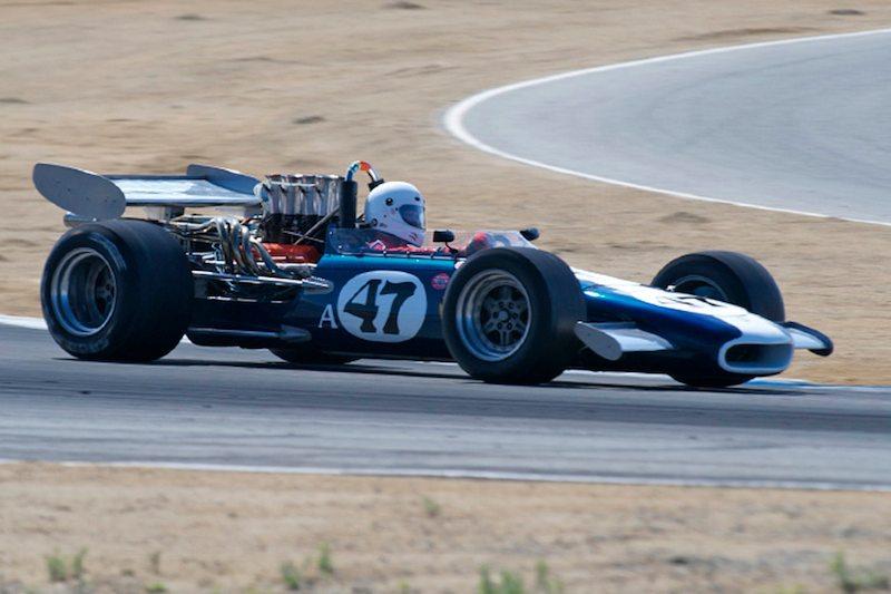 Turn 2, Group 7 race. Steve Davis in his 1969 Eagle MK5 F5000.