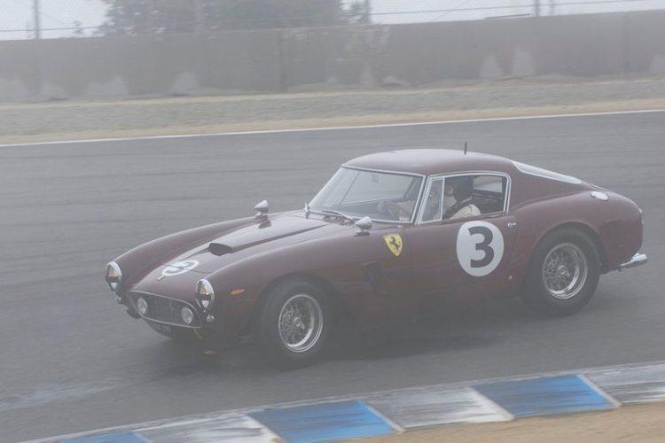 Nick Colonna's Ferrari 250 GT SWB in foggy turn 8