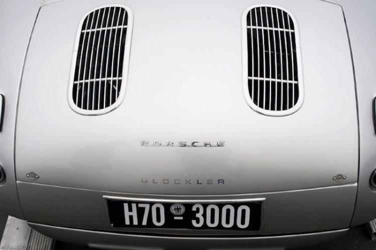 Rear deck of the 1952 Glockler Porsche.