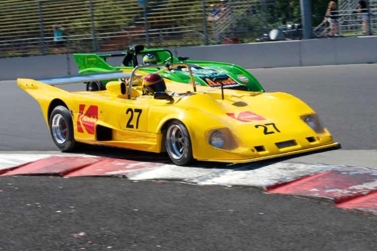 Keith Frieser in his quick Lola T290 leads Groza's Sauber C4.