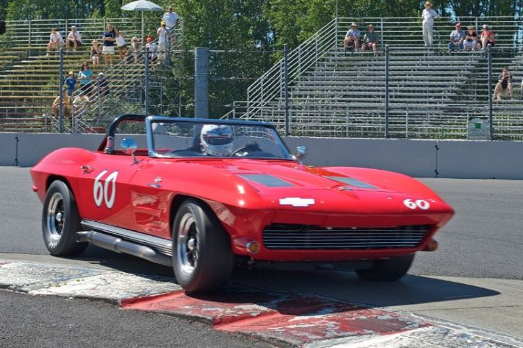 Terry Miller in his 1963 Corvette.