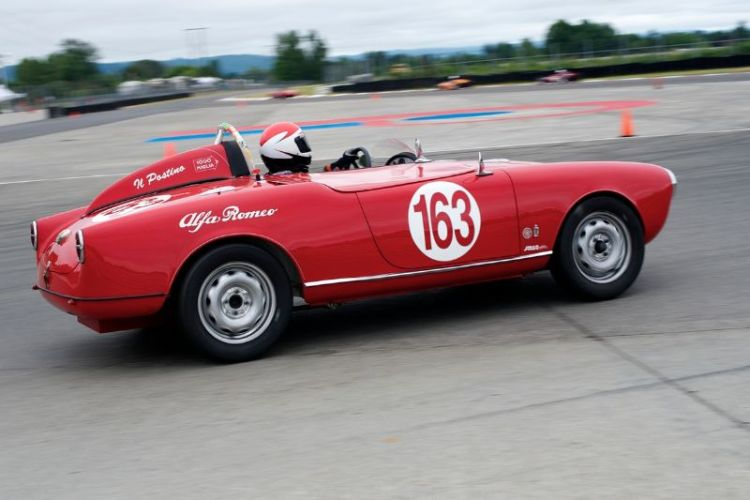 1956 1300cc Alfa Romeo Giulietta Spyder driven by Rick Beress.
