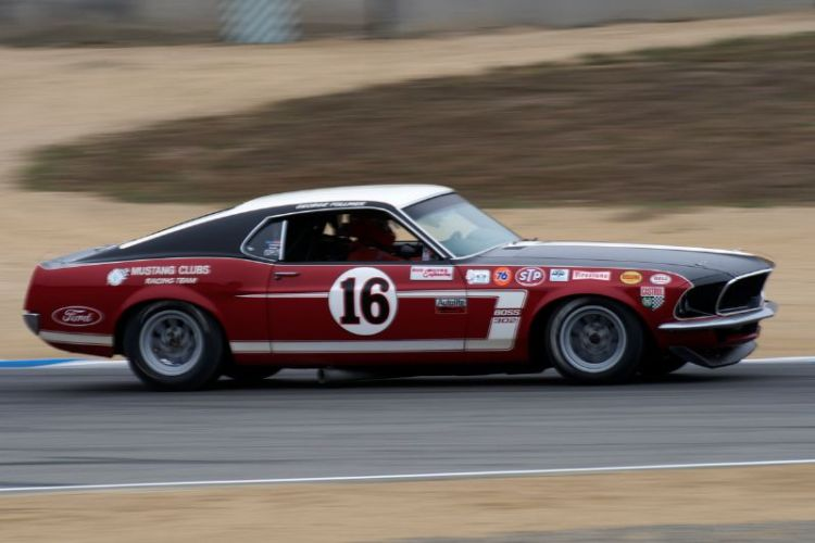 Vic Edelbrock in his 1969 Ford Boss 302 Mustang.