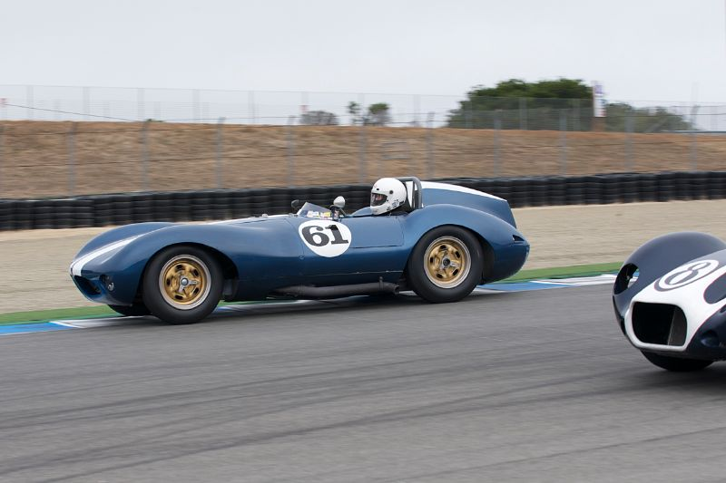 Butch Gilbert goes outside in his 1959 Hagemann-Sutton Special.