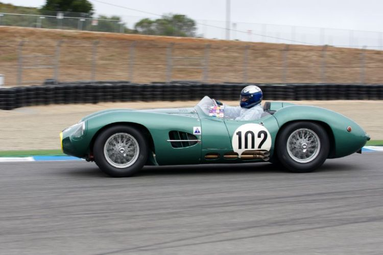 1957 Aston Martin DR2 driven by Gregory Whitten.