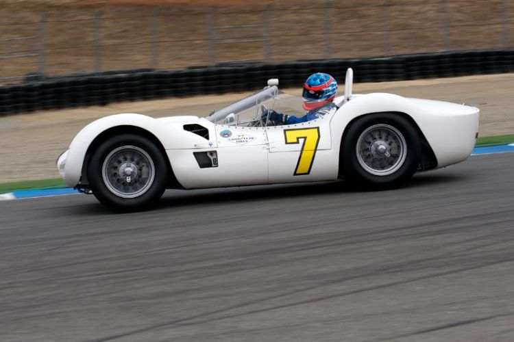 1960 Maserati Tipo 61 Birdcage driven by Jonathan Feiber.