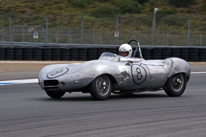 Mark Sange in his 1956 Elva MK II