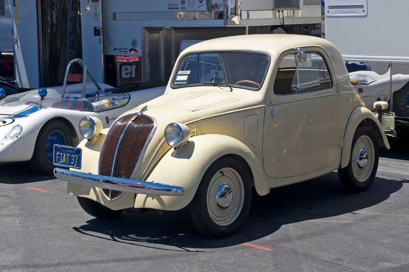 Last time I saw one of these Fiat 'Micky Mouse' cars Big John Mazmanian was running it with a blown Chrysler Hemi at the Firebird Drag strip outside Phoenix about 1966.