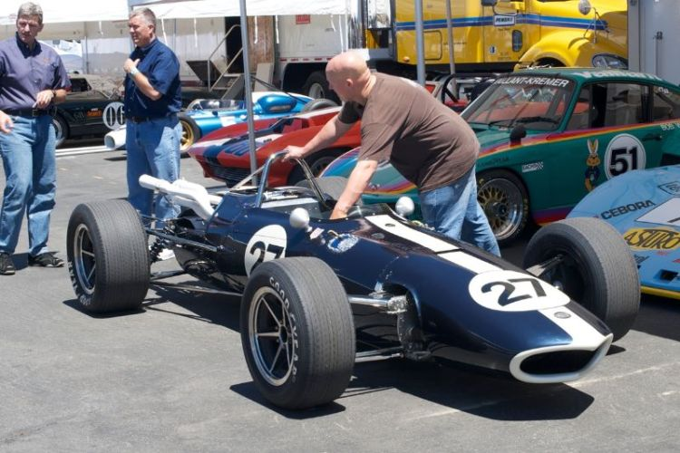 Dan Gurney's Eagle F-1. This is the four cylinder Coventry Climax engine car. One of three Eagle F-1 cars at this years Reunion.